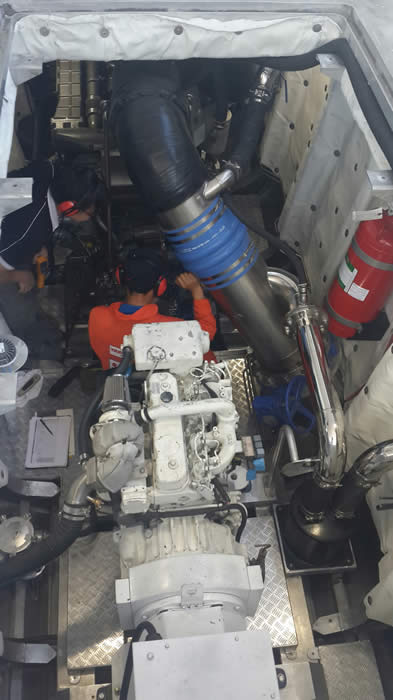 Reef Quest 111 engine room