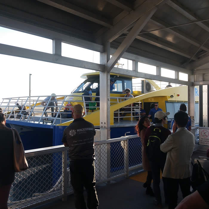 Catamaran Ferry docking