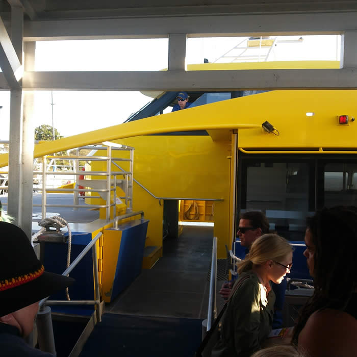 Catamaran Ferry Boarding