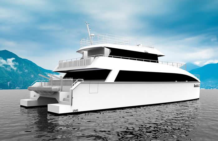 74' Aluminium Cruising Catamaran (aft)