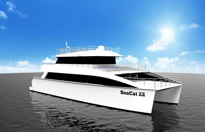 74' Aluminium Cruising Catamaran (fwd)