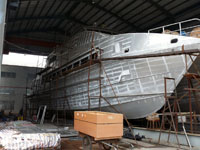 33m Aluminium Catamaran Design Hull