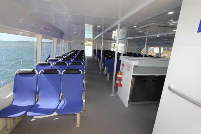 Aluminium Catamaran ferry Seating