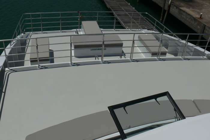 20M Dive Boat Catamaran bow down view
