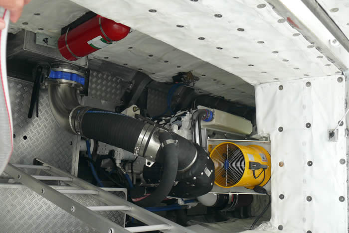 "20 m Dive Boat ""Engine Room"""