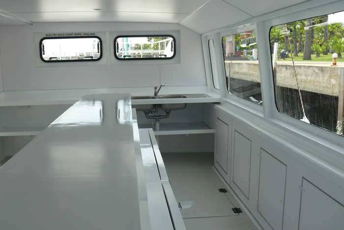 20M Dive Boat Catamaran galley view