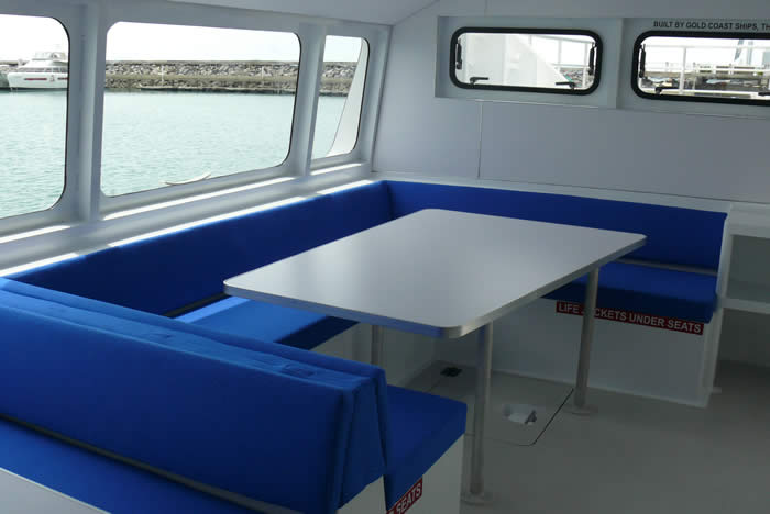 20M Dive Boat Catamaran lounge view