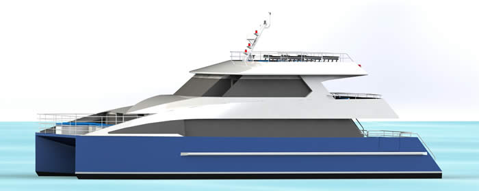20M Ferry Design Side View