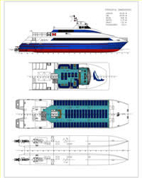 General Arrangement for 33 m Ferry