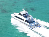 18m Aluminium Crew Boat Cat in Sea trials