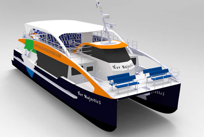 3d image of passenger ferry